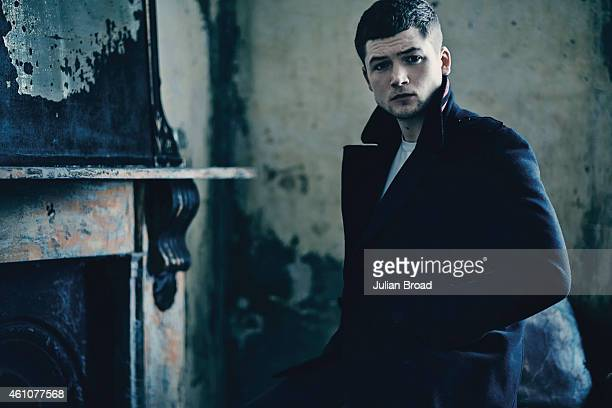 Actor Taron Egerton is photographed for Harrods magazine on September 26 2014 in London England