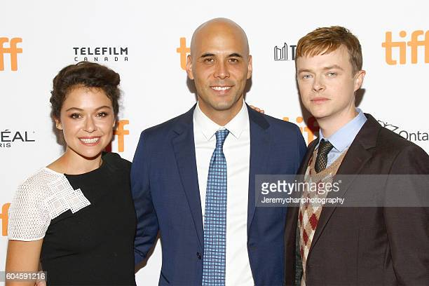 Actor Tatiana Maslany director Kim Nguyen and actor Dane DeHaan attend the 'Two Lovers And A Bear' Premiere held at The Elgin Theatre during the...