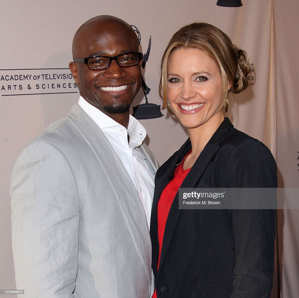 Actor <a gi-track='captionPersonalityLinkClicked' href=/galleries/search?phrase=Taye+Diggs&family=editorial&specificpeople=206415 ng-click='$event.stopPropagation()'>Taye Diggs</a> (L) and actress KaDee Strickland attend The Academy of Television Arts & Sciences Presents 'Welcome To ShondaLand: An Evening With Shonda Rhimes & Friends' at the Leonard H. Goldenson Theatre on April 2, 2012 in North Hollywood, California.