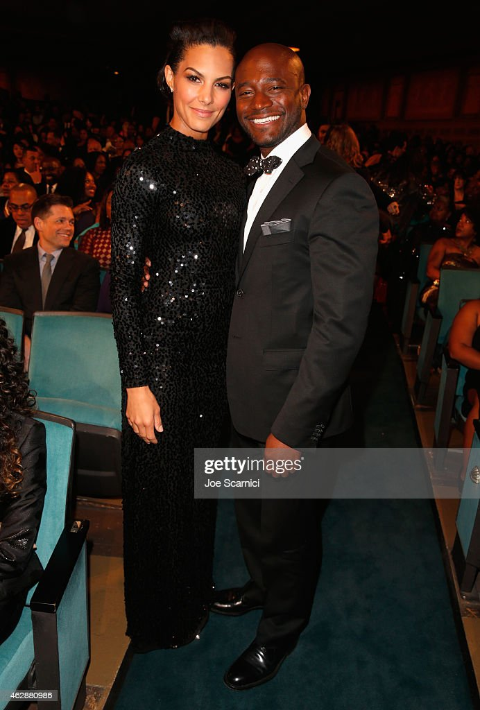 Actor Taye Diggs and Amanza Smith Brown attend the 46th NAACP Image Awards presented by TV One at Pasadena Civic Auditorium on February 6 2015 in...