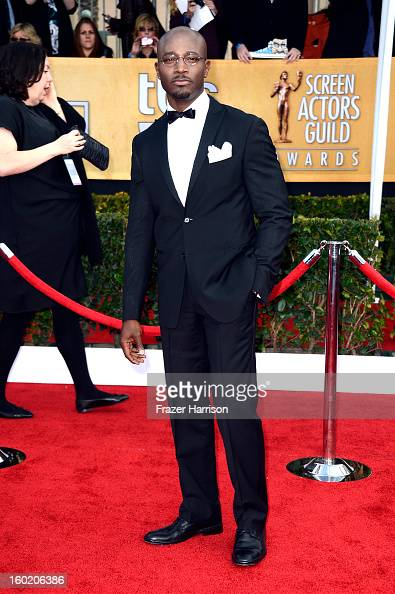 Actor Taye Diggs arrives at the 19th Annual Screen Actors Guild Awards held at The Shrine Auditorium on January 27 2013 in Los Angeles California