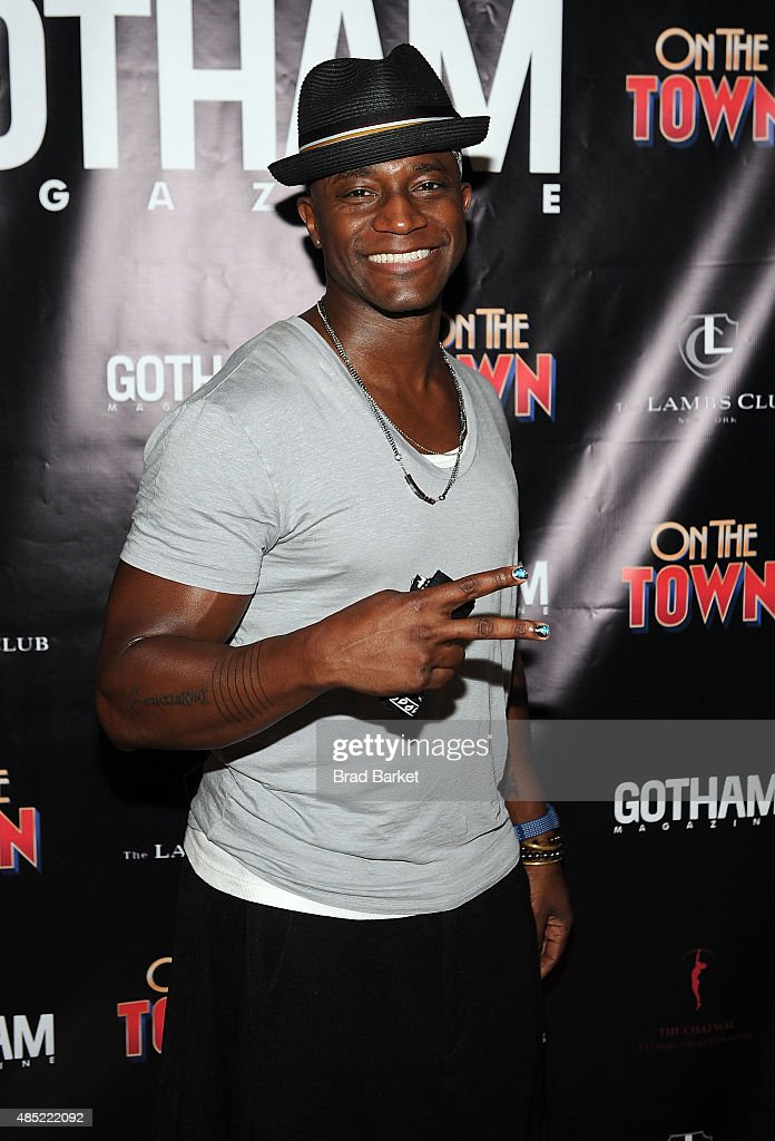 Actor Taye Diggs attends Misty Copeland's debut performance in Broadway's 'On The Town' at the Lyric Theatre on August 25 2015 in New York City