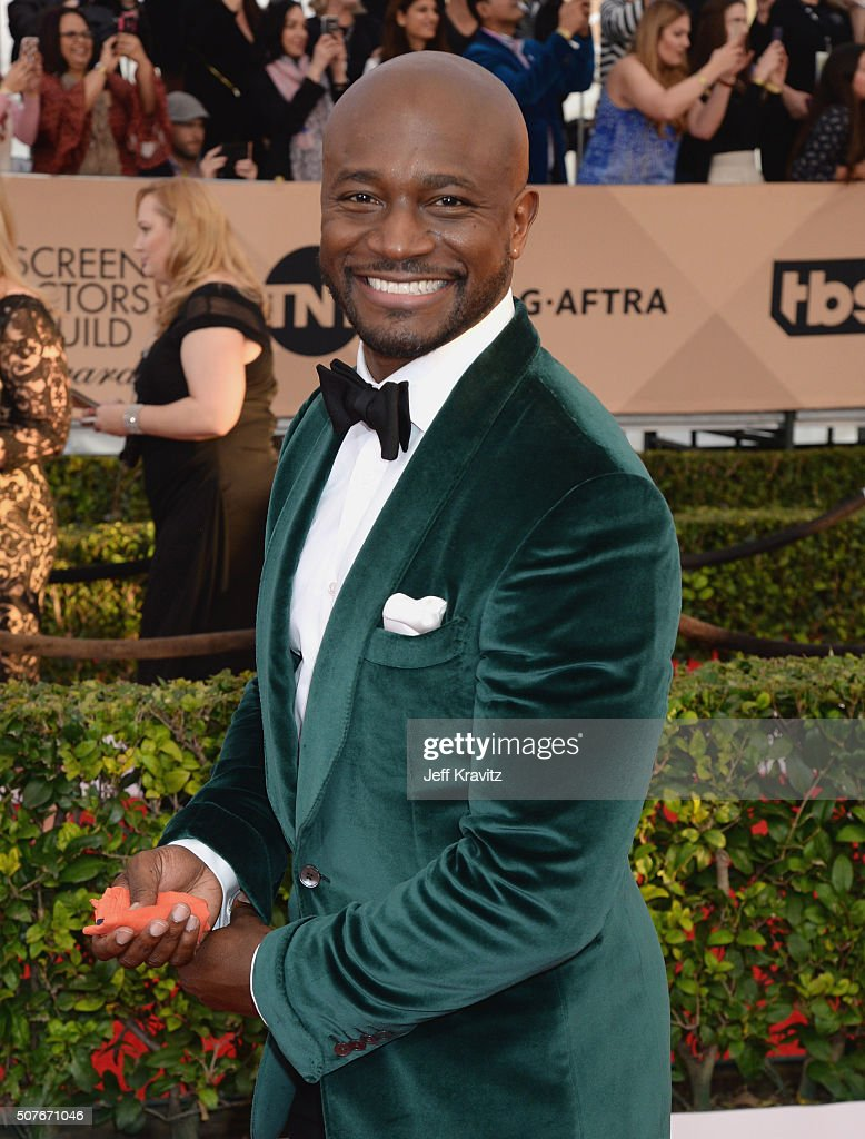 Actor Taye Diggs attends the 22nd Annual Screen Actors Guild Awards at The Shrine Auditorium on January 30 2016 in Los Angeles California