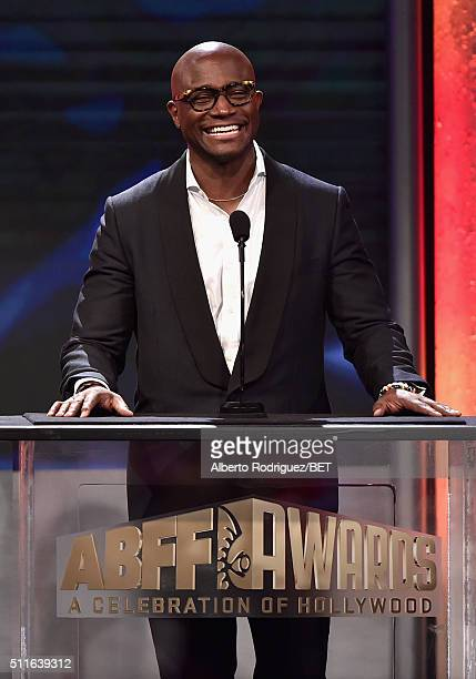 Actor Taye Diggs speaks onstage during the 2016 ABFF Awards A Celebration Of Hollywood at The Beverly Hilton Hotel on February 21 2016 in Beverly...