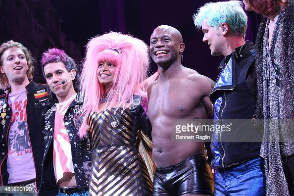 Actor Taye Diggs take curtain call during 'Hedwig And The Angry Inch' at Belasco Theatre on July 22 2015 in New York City