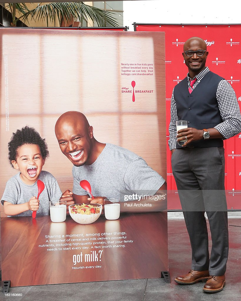 Actor Taye Diggs unveils his first ever Got Milk mustache ad at Hollywood Highland Courtyard on March 5 2013 in Hollywood California