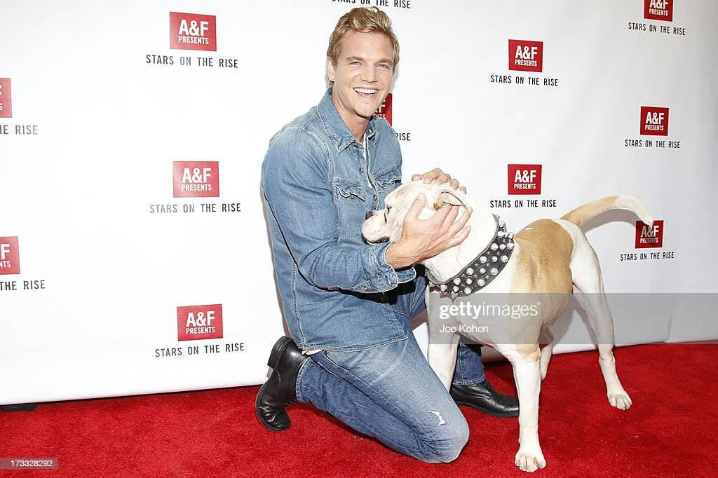 Actor Taylor Handley and Popeye attend Abercrombie & Fitch Co. presents their 2013 'Stars On The Rise!' at The Grove on July 11, 2013 in Los Angeles, California.