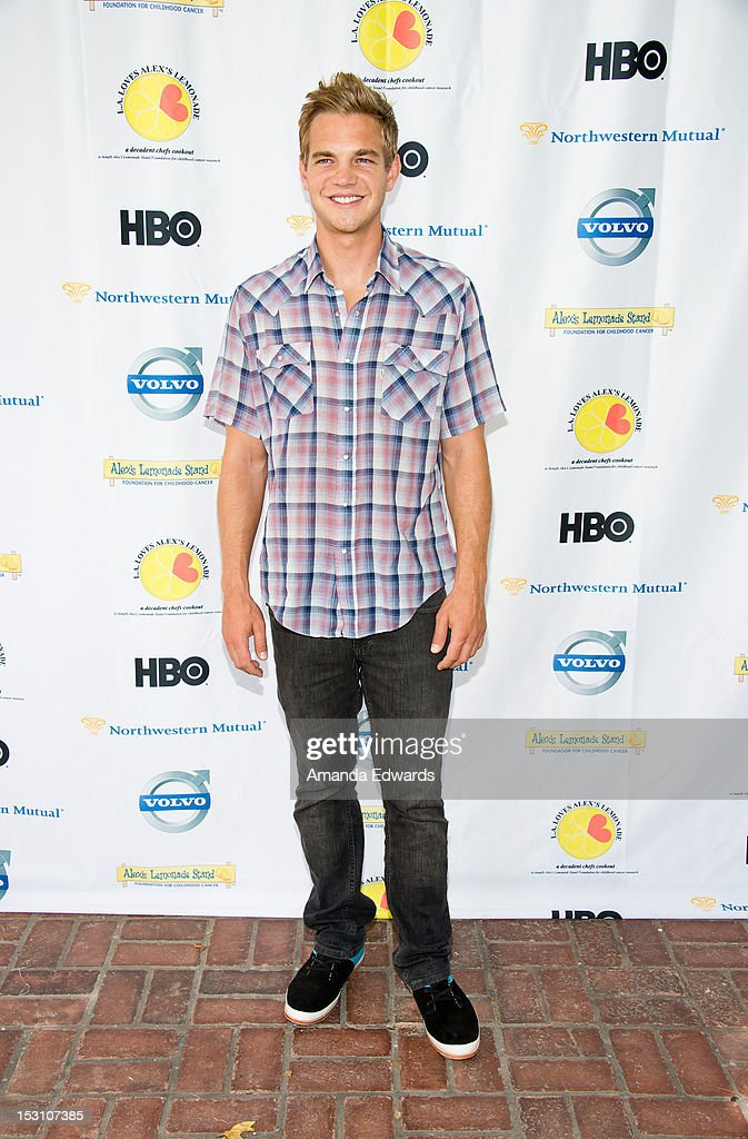 Actor Taylor Handley arrives at the L.A. Loves Alex's Lemonade Culinary Event at Culver Studios on September 29, 2012 in Culver City, California.