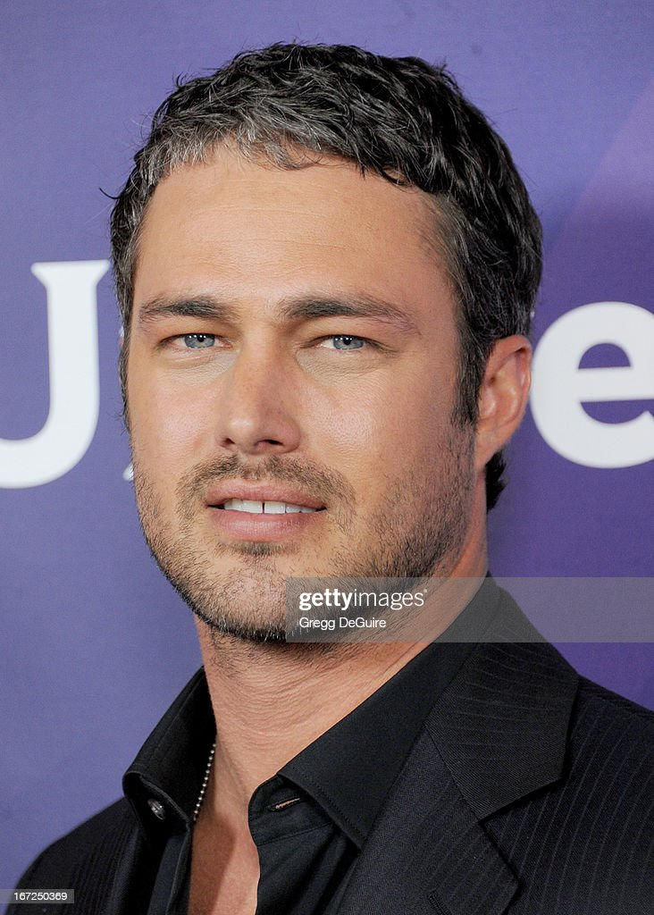 Actor <a gi-track='captionPersonalityLinkClicked' href=/galleries/search?phrase=Taylor+Kinney&family=editorial&specificpeople=747018 ng-click='$event.stopPropagation()'>Taylor Kinney</a> arrives at the 2013 NBC Summer Press Day at The Langham Huntington Hotel and Spa on April 22, 2013 in Pasadena, California.