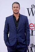 Actor Taylor Kinney arrives at the Los Angeles premiere of 'The Other Woman' at Regency Village Theatre on April 21 2014 in Westwood California