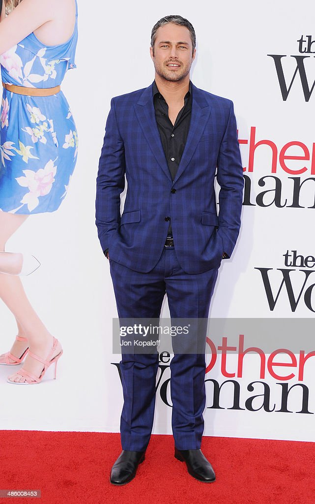 Actor <a gi-track='captionPersonalityLinkClicked' href=/galleries/search?phrase=Taylor+Kinney&family=editorial&specificpeople=747018 ng-click='$event.stopPropagation()'>Taylor Kinney</a> arrives at the Los Angeles Premiere 'The Other Woman' at Regency Village Theatre on April 21, 2014 in Westwood, California.