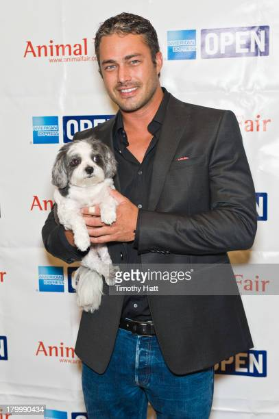 Actor Taylor Kinney attends Animalfaircom's Bark Business tour to support K9s for Warriors event at Omni Hotel on September 7 2013 in Chicago Illinois