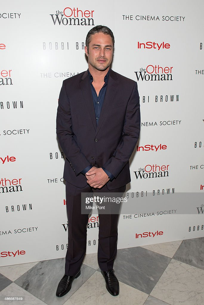Actor Taylor Kinney attends The Cinema Society & Bobbi Brown with InStyle screening of 'The Other Woman' at The Paley Center for Media on April 24, 2014 in New York City.