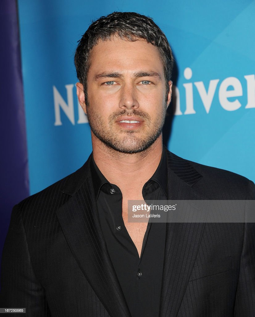 Actor <a gi-track='captionPersonalityLinkClicked' href=/galleries/search?phrase=Taylor+Kinney&family=editorial&specificpeople=747018 ng-click='$event.stopPropagation()'>Taylor Kinney</a> attends the NBCUniversal summer press day at The Langham Huntington Hotel and Spa on April 22, 2013 in Pasadena, California.