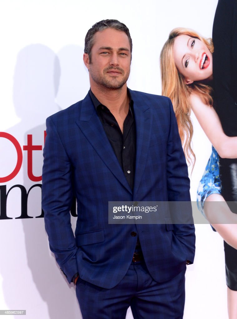 Actor <a gi-track='captionPersonalityLinkClicked' href=/galleries/search?phrase=Taylor+Kinney&family=editorial&specificpeople=747018 ng-click='$event.stopPropagation()'>Taylor Kinney</a> attends the premiere of Twentieth Century Fox's 'The Other Woman' at Regency Village Theatre on April 21, 2014 in Westwood, California.