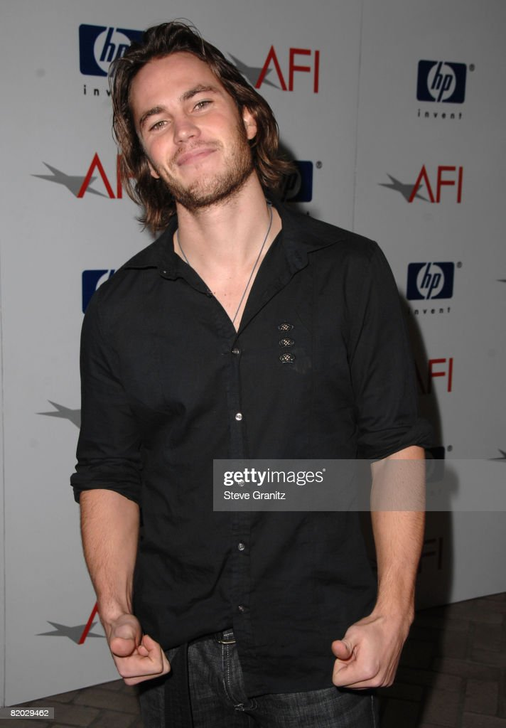 Actor Taylor Kitsch arrives at the 2008 AFI Luncheon held at the Four Seasons Hotel on January 11, 2008 in Los Angeles, California.