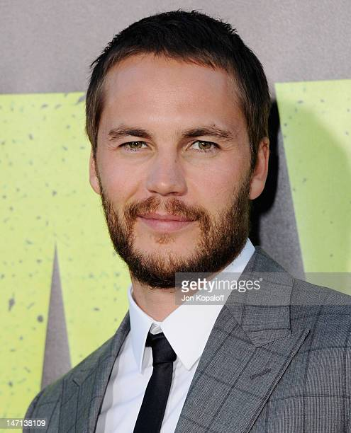 Actor Taylor Kitsch arrives at the Los Angeles Premiere 'Savages' at Mann Village Theatre on June 25 2012 in Westwood California