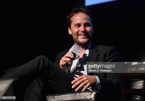 Actor Taylor Kitsch attends Film Independent at LACMA presents CAN/LA opening night at Bing Theatre At LACMA on July 30 2015 in Los Angeles California