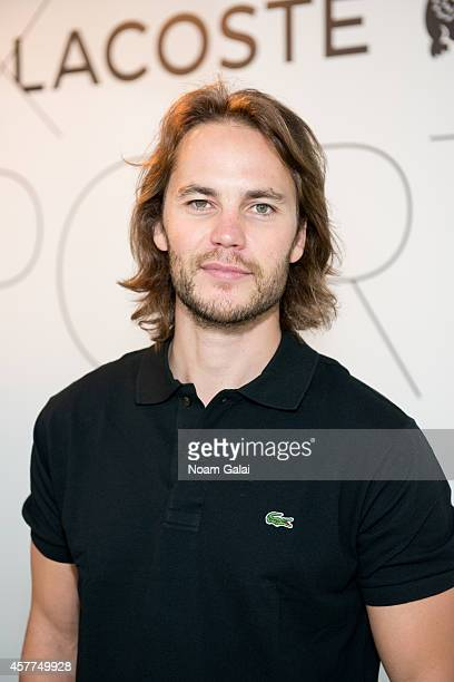 Actor Taylor Kitsch attends the GQ x LaCoste Sport PopUp on October 23 2014 in New York City