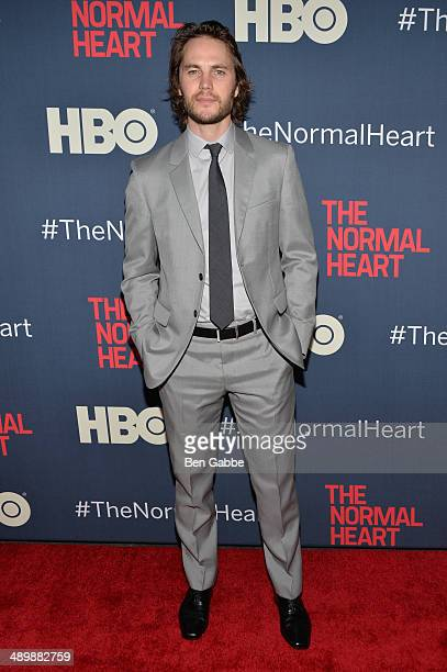 Actor Taylor Kitsch attends the New York premiere of 'The Normal Heart' at Ziegfeld Theater on May 12 2014 in New York City