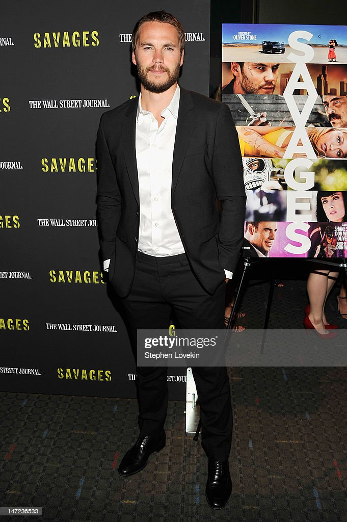 Actor <a gi-track='captionPersonalityLinkClicked' href=/galleries/search?phrase=Taylor+Kitsch&family=editorial&specificpeople=745008 ng-click='$event.stopPropagation()'>Taylor Kitsch</a> attends the 'Savages' New York premiere at SVA Theater on June 27, 2012 in New York City.