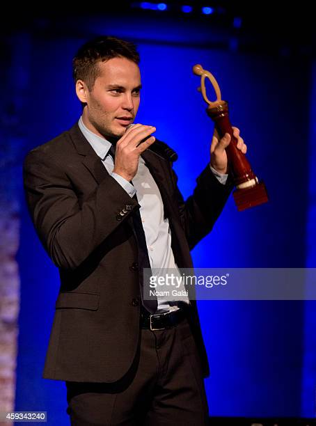 Actor Taylor Kitsch speaks on stage at the 6th Annual African Children's Choir Changemakers Gala at City Winery on November 20 2014 in New York City