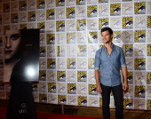 Actor Taylor Lautner arrive at the press conference for 'The Twilight Saga Breaking Dawn Part 2' at San Diego ComicCon 2012 at San Diego Convention...
