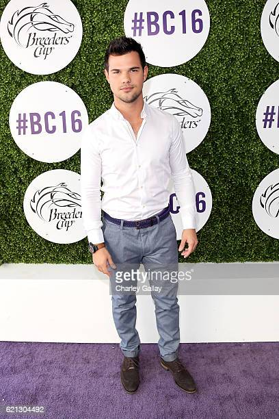 Actor Taylor Lautner at the 2016 Breeders' Cup World Championships at Santa Anita Park on November 5 2016 in Arcadia California