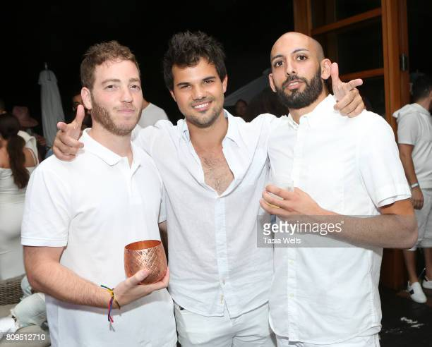 Actor Taylor Lautner at the 4th annual 'Red White and Bootsy' July 4th Bash presented by The hwood Group powered by Pacsun with specialty sips by...