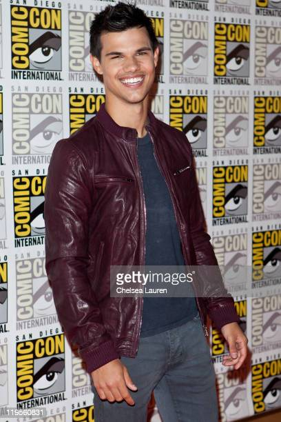 Actor Taylor Lautner attends 2011 ComicCon International Day 1 at San Diego Convention Center on July 21 2011 in San Diego California