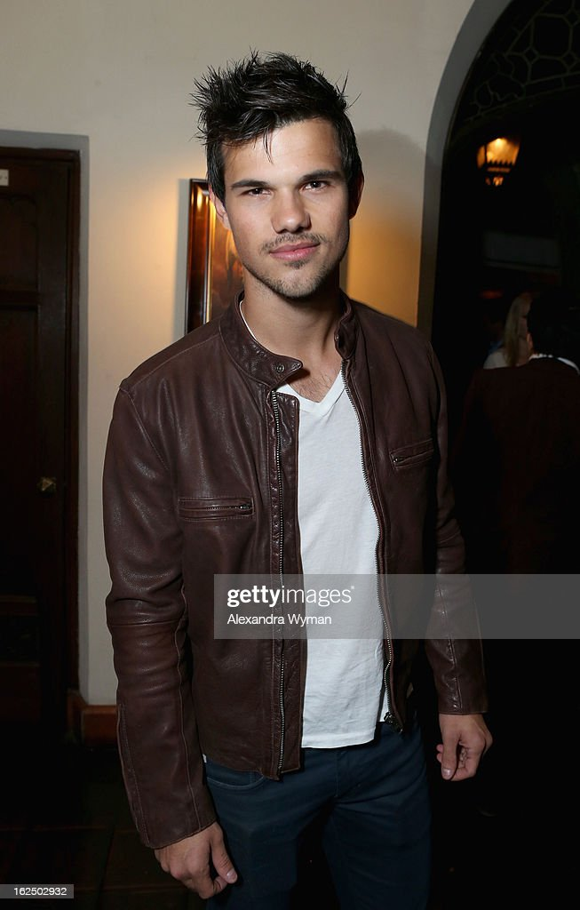 Actor Taylor Lautner attends GREY GOOSE PreOscar Party hosted by Michael Sugar Doug Wald Nathan Kahane and Warren Zavala at Chateau Marmont on...