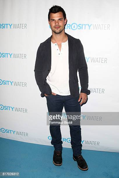 Actor Taylor Lautner attends the Generosity Water Launch at Montage Beverly Hills on March 22 2016 in Beverly Hills California