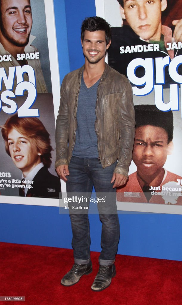 Actor Taylor Lautner attends the 'Grown Ups 2' New York Premiere at AMC Lincoln Square Theater on July 10, 2013 in New York City.