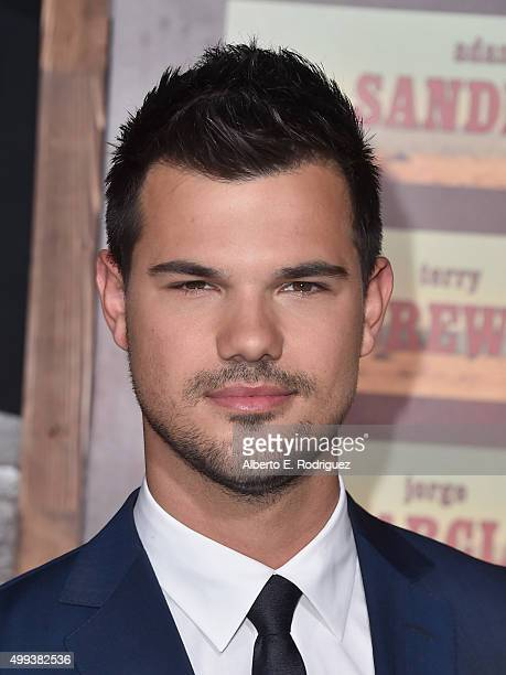 Actor Taylor Lautner attends the premiere of Netflix's 'The Ridiculous 6' at AMC Universal City Walk on November 30 2015 in Universal City California