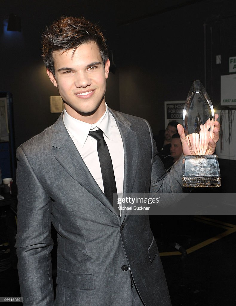 Actor Taylor Lautner backstage during the People's Choice Awards 2010 held at Nokia Theatre LA Live on January 6 2010 in Los Angeles California