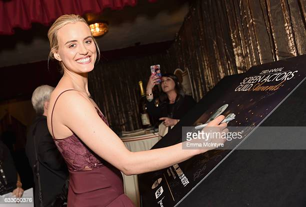 Actor Taylor Schilling attends The 23rd Annual Screen Actors Guild Awards at The Shrine Auditorium on January 29 2017 in Los Angeles California...