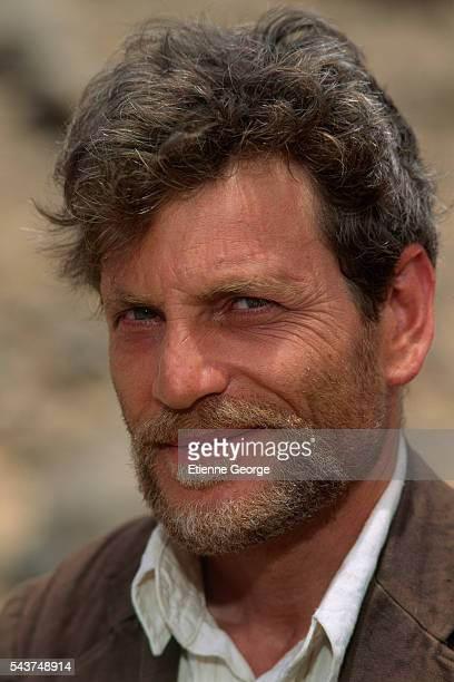 Actor Tcheky Karyo on the set of Bob Swaim's film 'L'Atlantide' based on French writer Pierre Benoit's 1919 novel which was awarded the 'Grand Prix...