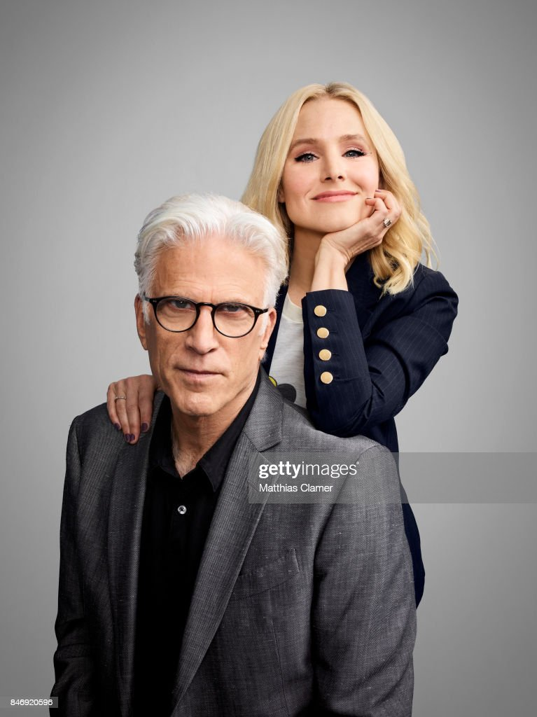 Actor Ted Danson and actress Kristen Bell from 'The Good Place' are photographed for Entertainment Weekly Magazine on July 21, 2016 at Comic Con in the Hard Rock Hotel in San Diego, California.