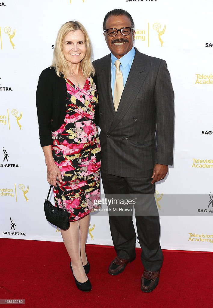 Actor Ted Lange (R) and his wife attend the Television Academy and SAG-AFTRA Presents Dynamic & Diverse: A 66th Emmy Awards Celebration of Diversity at the Leonard H. Goldenson Theatre on August 12, 2014 in North Hollywood, California.