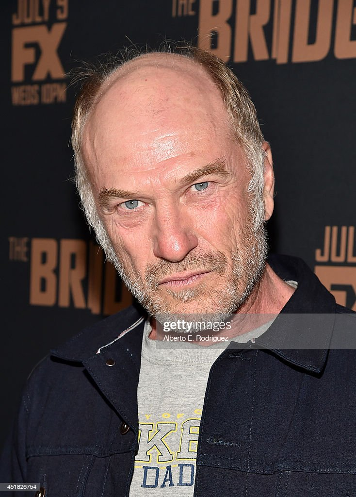 Actor <a gi-track='captionPersonalityLinkClicked' href=/galleries/search?phrase=Ted+Levine+-+Actor&family=editorial&specificpeople=834970 ng-click='$event.stopPropagation()'>Ted Levine</a> attends the premiere of FX's 'The Bridge' at Pacific Design Center on July 7, 2014 in West Hollywood, California.
