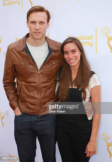 Actor Teddy Sears and actress Melissa Sears attend the Television Academy's Costume Design Nominee Reception at FIDM Museum Galleries on the Park on...