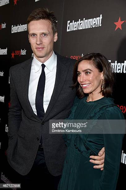 Actor Teddy Sears and Melissa Skoro attend Entertainment Weekly's celebration honoring the 2015 SAG awards nominees at Chateau Marmont on January 24...