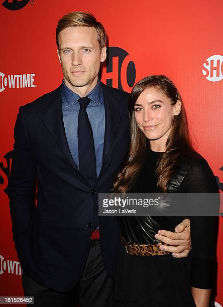 Actor Teddy Sears and Melissa Skoro attend the Showtime Emmy eve soiree at Sunset Tower on September 21 2013 in West Hollywood California