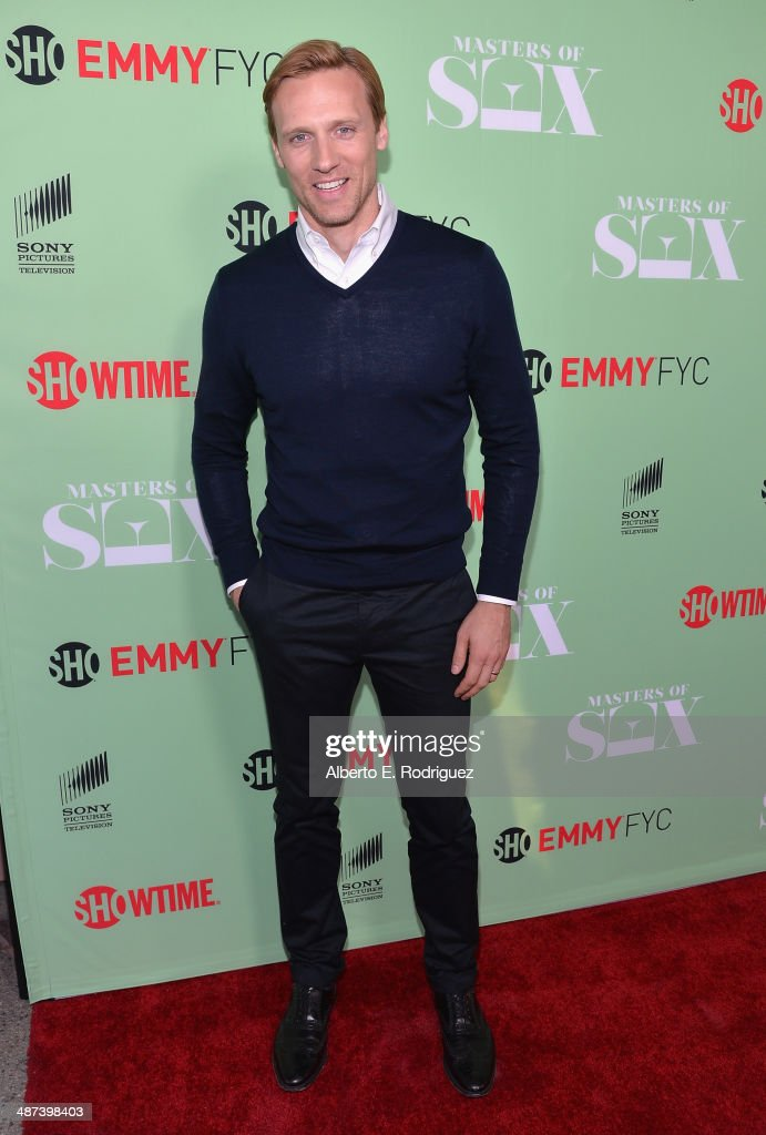 Actor <a gi-track='captionPersonalityLinkClicked' href=/galleries/search?phrase=Teddy+Sears&family=editorial&specificpeople=5436294 ng-click='$event.stopPropagation()'>Teddy Sears</a> arrives to an exclusive conversation with the cast of Showtime's 'Masters Of Sex' at Leonard H. Goldenson Theatre on April 29, 2014 in North Hollywood, California.