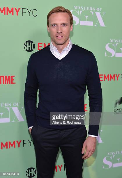 Actor Teddy Sears arrives to an exclusive conversation with the cast of Showtime's 'Masters Of Sex' at Leonard H Goldenson Theatre on April 29 2014...