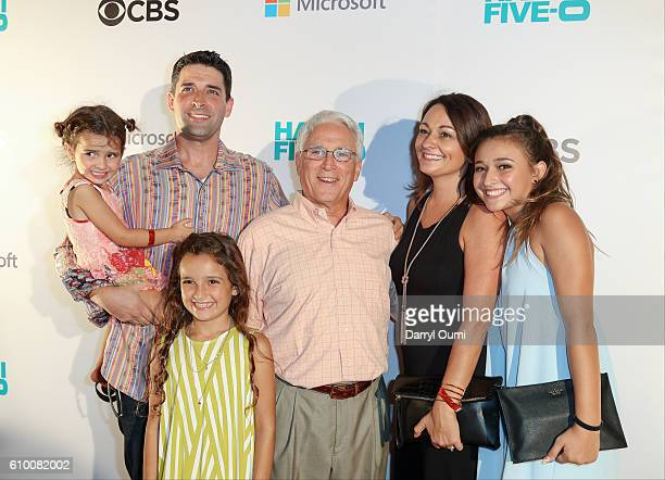 Actor Teilor Grubbs and her family arrive at the CBS 'Hawaii Five0' Sunset On The Beach Season 7 Premier Event at Queen's Surf Beach on September 23...
