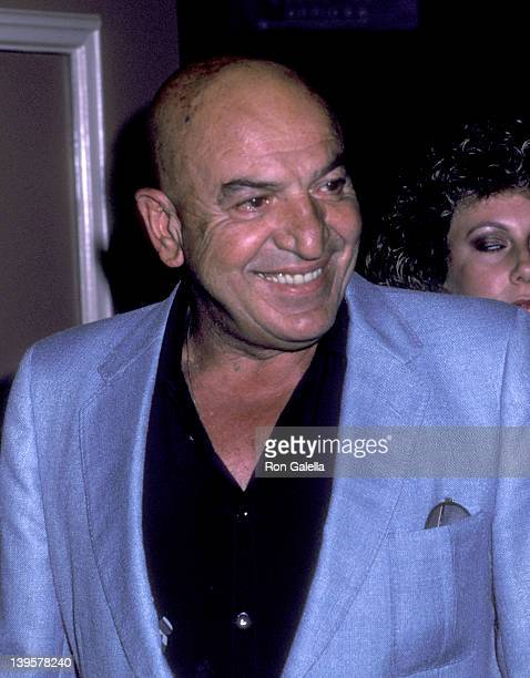 Actor Telly Savalas attends the Young Musicians Foundation's Fourth Annual Celebrity Mother/Daughter Fashion Show on March 28 1985 at Beverly Hilton...