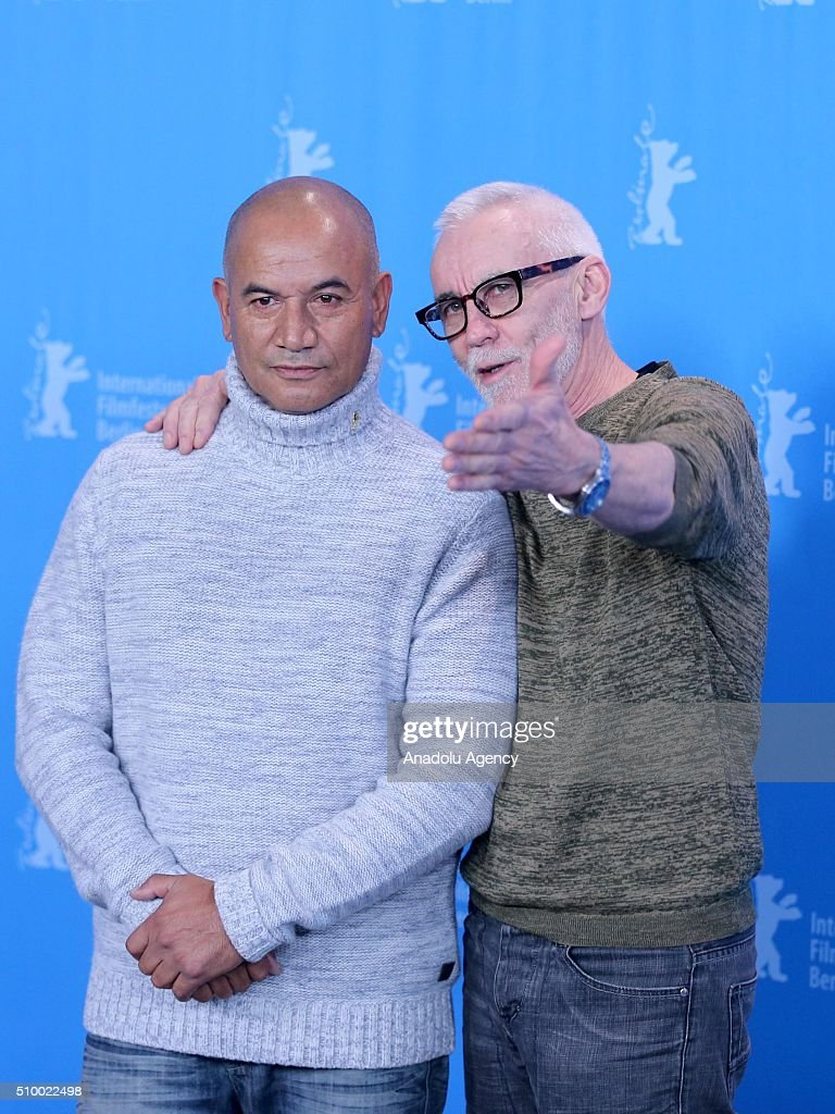 Actor Temuera Morrison and Lee Tamahori attend the 'The Patriarch' (Mahana) photo call during the 66th Berlinale International Film Festival Berlin at Grand Hyatt Hotel on February 13, 2016 in Berlin, Germany.
