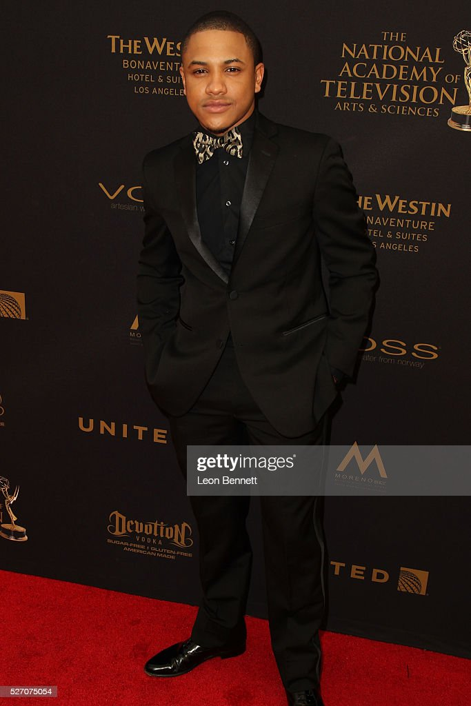 Actor Tequan Richmond attends the 2016 Daytime Emmy Awards - Arrivals at Westin Bonaventure Hotel on May 1, 2016 in Los Angeles, California.
