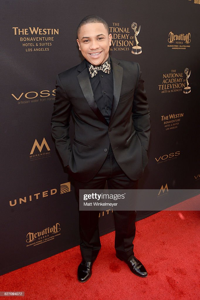 Actor <a gi-track='captionPersonalityLinkClicked' href=/galleries/search?phrase=Tequan+Richmond&family=editorial&specificpeople=650106 ng-click='$event.stopPropagation()'>Tequan Richmond</a> walks the red carpet at the 43rd Annual Daytime Emmy Awards at the Westin Bonaventure Hotel on May 1, 2016 in Los Angeles, California.